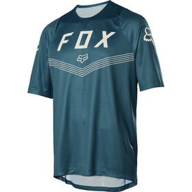 Fox Defend Fine Line Jersey korte mouwen Heren, maui blue